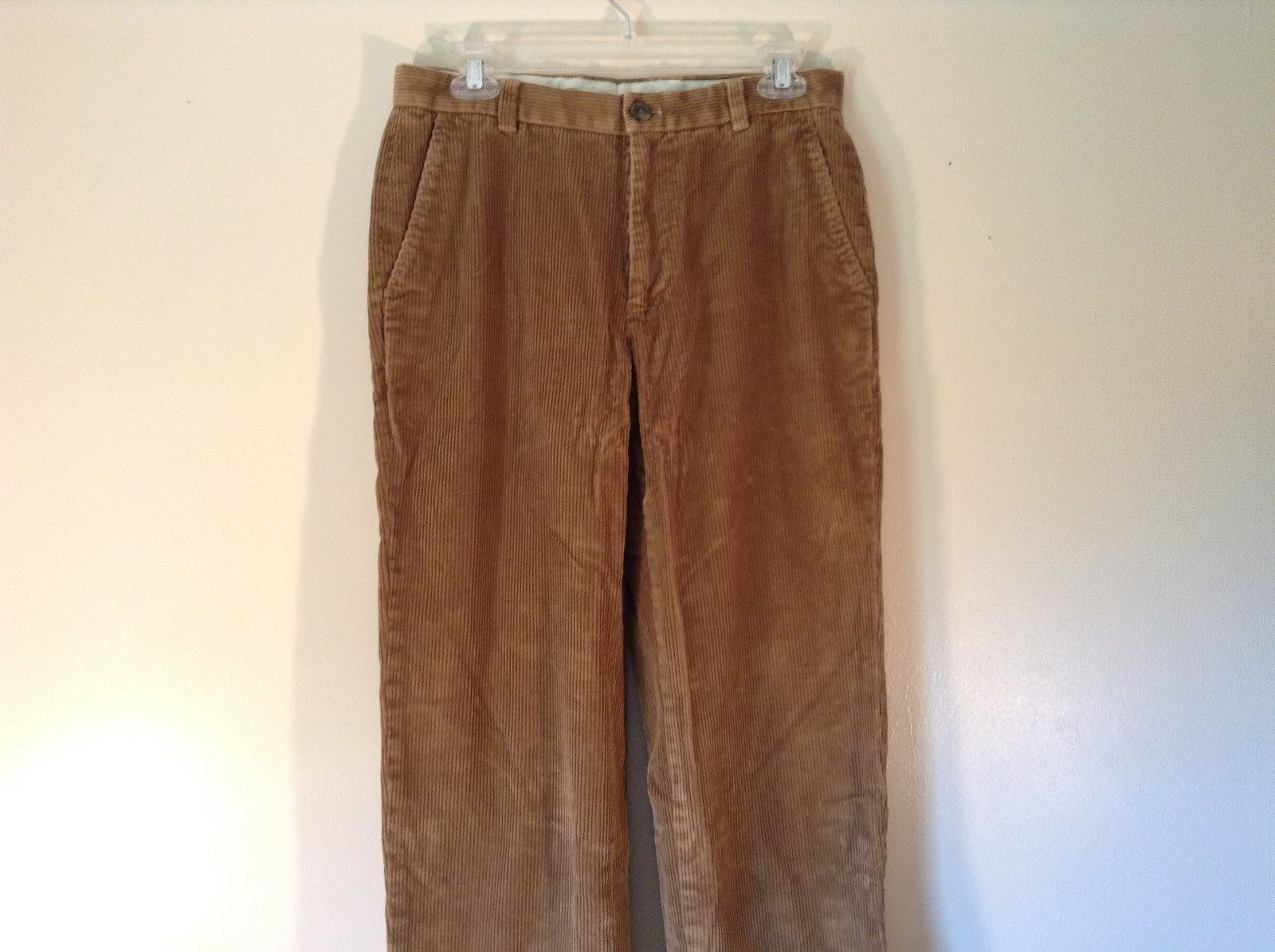 Light Brown Corduroy Pants Size 31 by 30 Brooks Brothers GREAT CONDITION