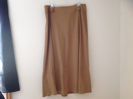 Light Brown Long Length Suede Like Skirt Zipper Closure at Back Size 16