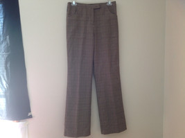 Light Brown Hounds Tooth Patterned Casual Pants 2 Pockets Armani Jeans Size 8