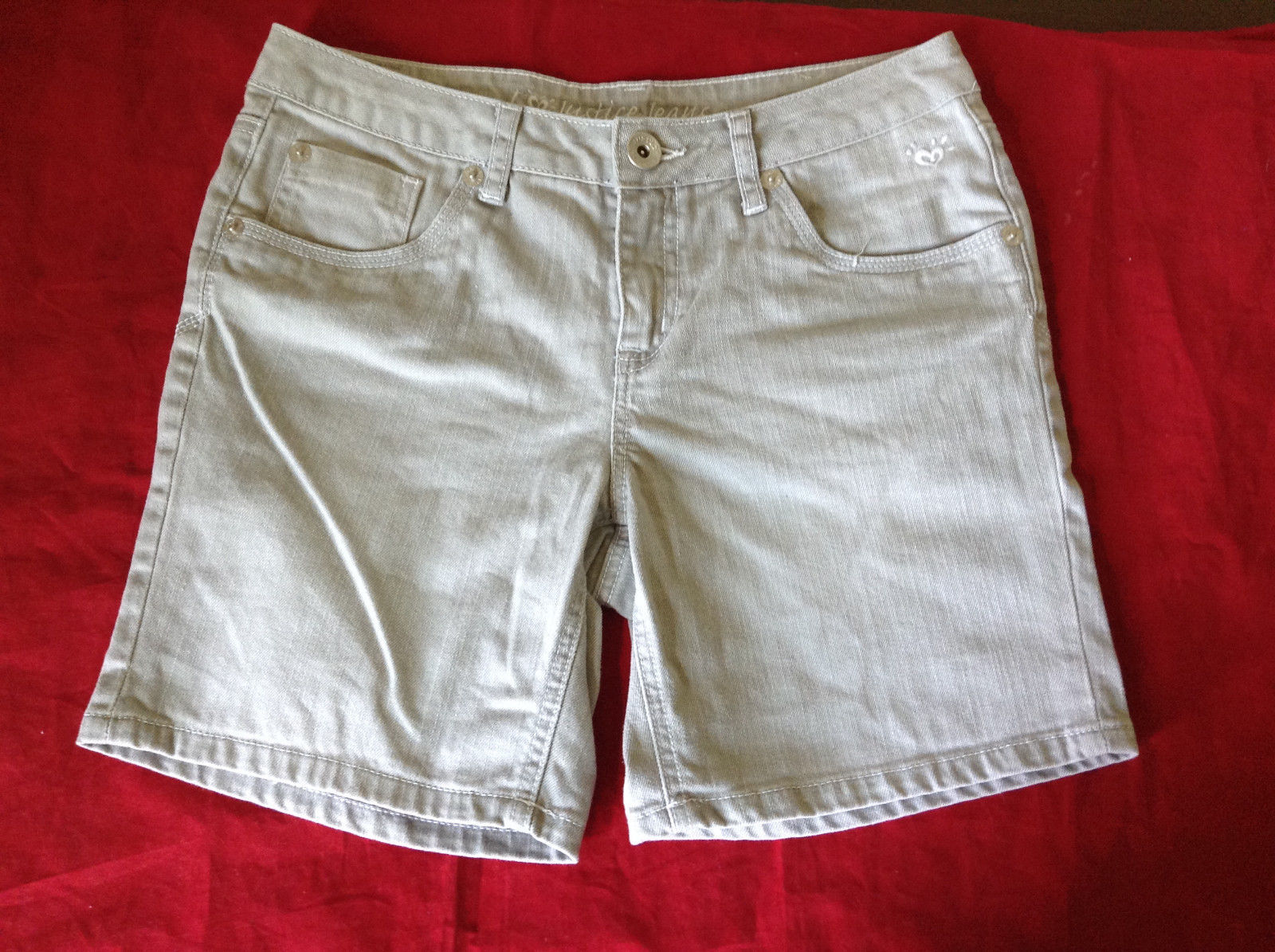 Light Gray Shorts by Justice 99 Percent Cotton 1 Percent Spandex Size 14.5