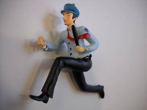 New Running Policeman Figure Christmas Tree Ornament Department 56