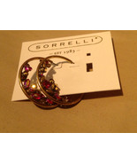 New Sorrelli Gold Red Pierced Large Circle Earrings - $44.35