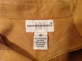 Knights Bridge Mole Skin (microfiber suede) Sand Brown Casual Top Shirt, Size M image 7