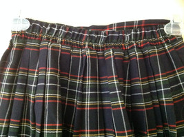 Knee Length Navy Red Plaid Buttoned Skirt Double Rows of Buttons Size S/M image 4