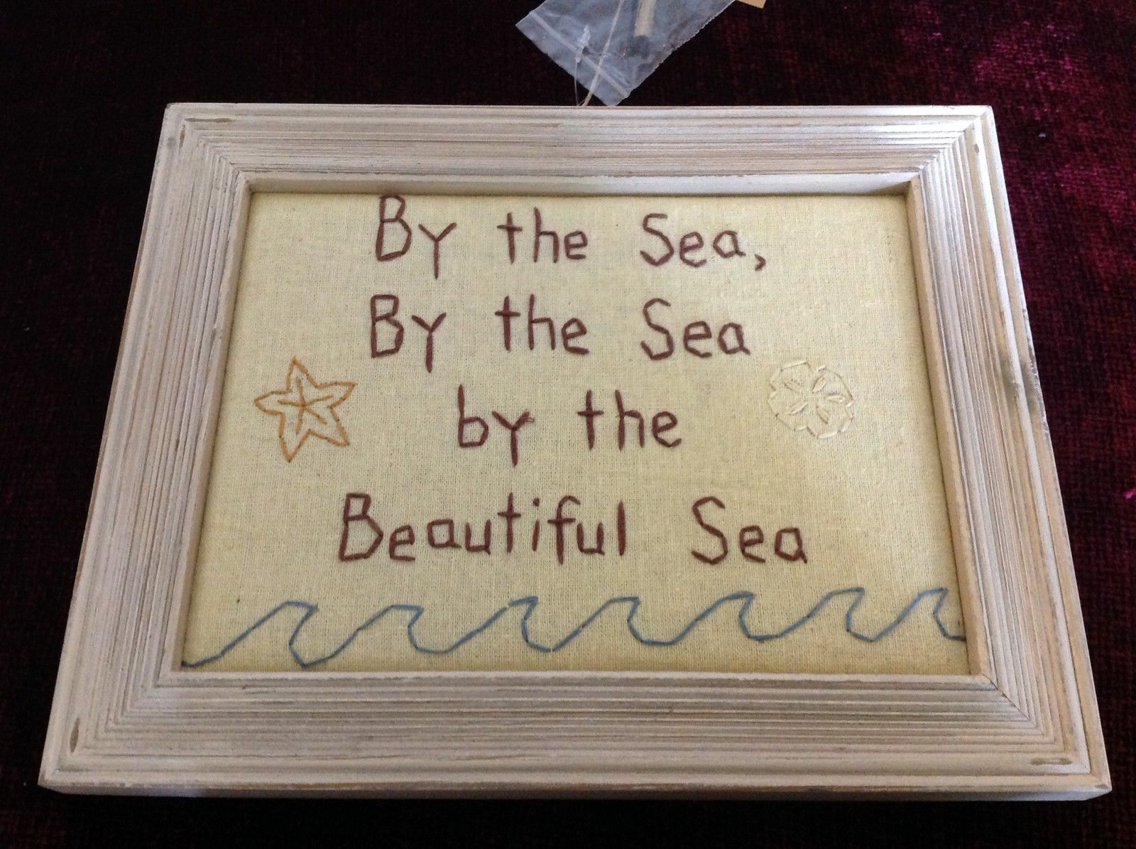 New Primitives Stitchery By the Sea By the Sea By the Beautiful Sea Wall Hanging