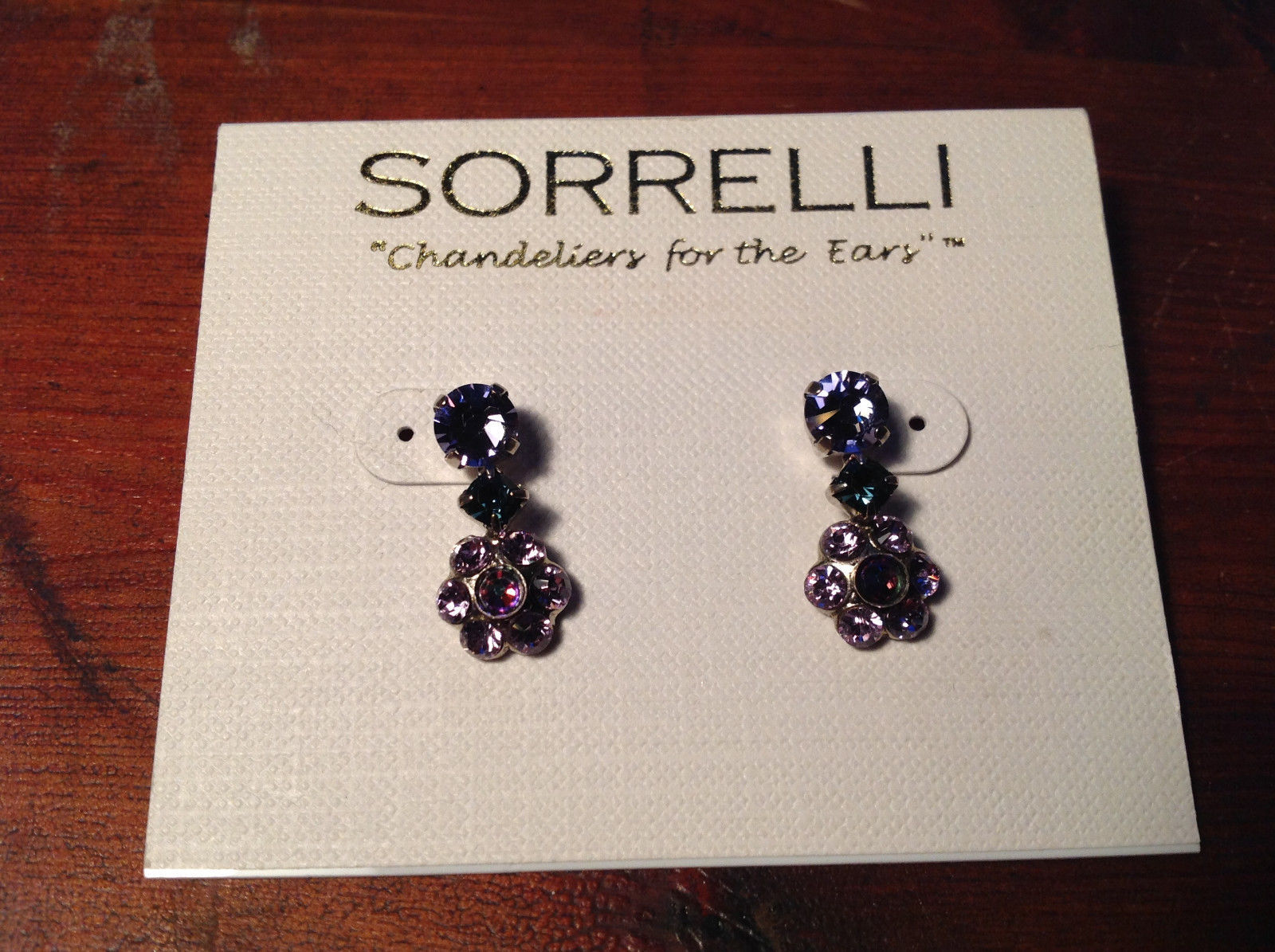 New Sorrelli Dangling Earrings Silver Tone Finish Antique Authentic Earrings