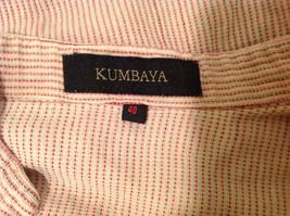 Kumbaya Mens short sleeve casual shirt multicolored stripes, size 40 image 6
