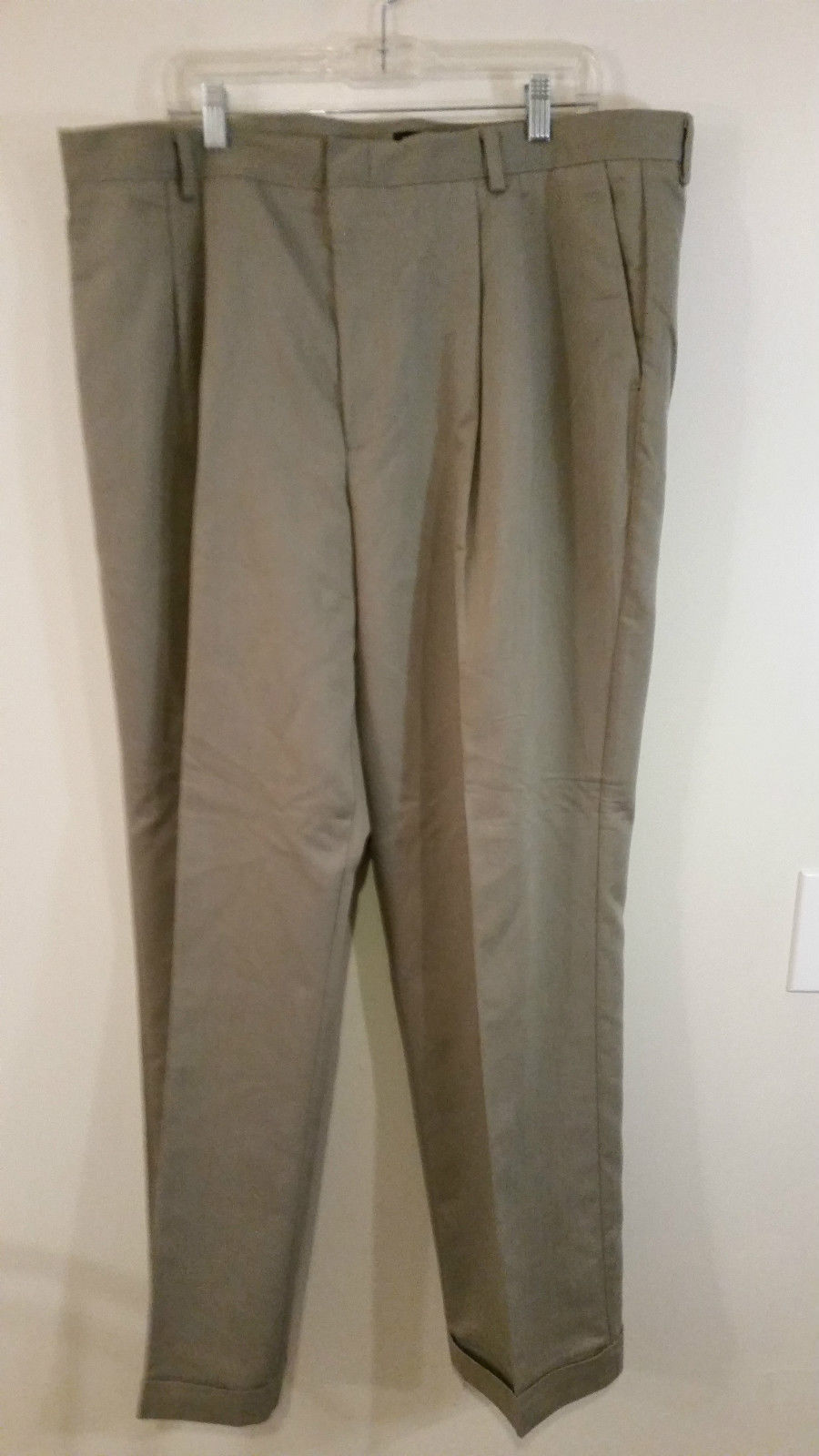 Light Gray Pleated Front Dress Pants by Dockers Size W42 L 32