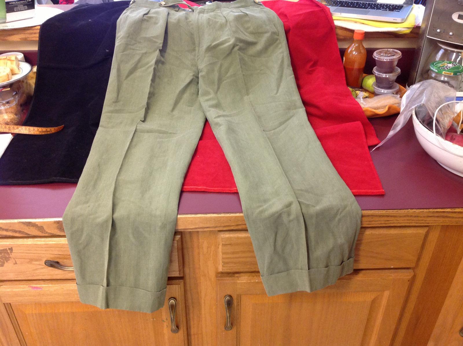 Light Green Mens Pleated Front Dress Slacks Pants