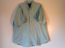 Light Green Button Down Short Sleeve Casual Shirt Hunt Club Collar Size XXL