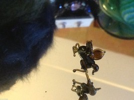 Micro miniature small hand blown glass flying horse pegasus USA made NIB image 3
