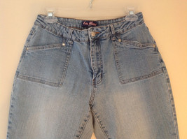 L A Blues Light Wash Square Pocket Straight Leg Blue Jeans 4 Pockets Size 12 image 2