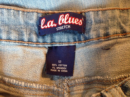 L A Blues Light Wash Square Pocket Straight Leg Blue Jeans 4 Pockets Size 12 image 7