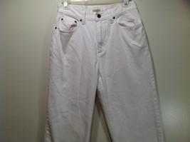 L L Bean 100 Percent Cotton Size 6M White Jeans Front and Back Pockets image 2