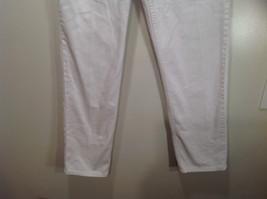 L L Bean 100 Percent Cotton Size 6M White Jeans Front and Back Pockets image 3
