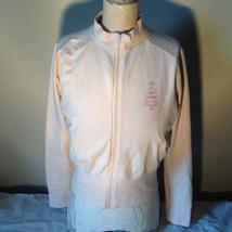 Light Pink Sweatshirt Zip Up Long Sleeve NAFNAF Lets Dance N on Back Siz... - $34.64