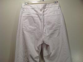 L L Bean 100 Percent Cotton Size 6M White Jeans Front and Back Pockets image 7