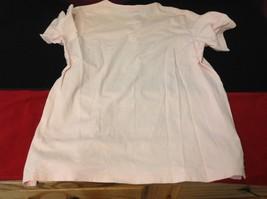 L Bean short sleeve shirt light pink size medium for women image 4