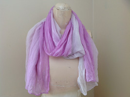 Light Purple Watercolor Scarf Length 65 Inches Width 24 Inches