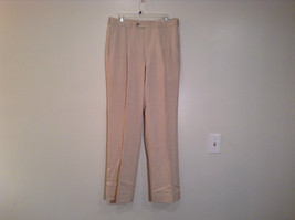 Light Tan Beige Pleated Front Dress Pants No Tags Measurements Below