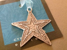 New small Pewter hand made Star  hanging wall ornament made in USA