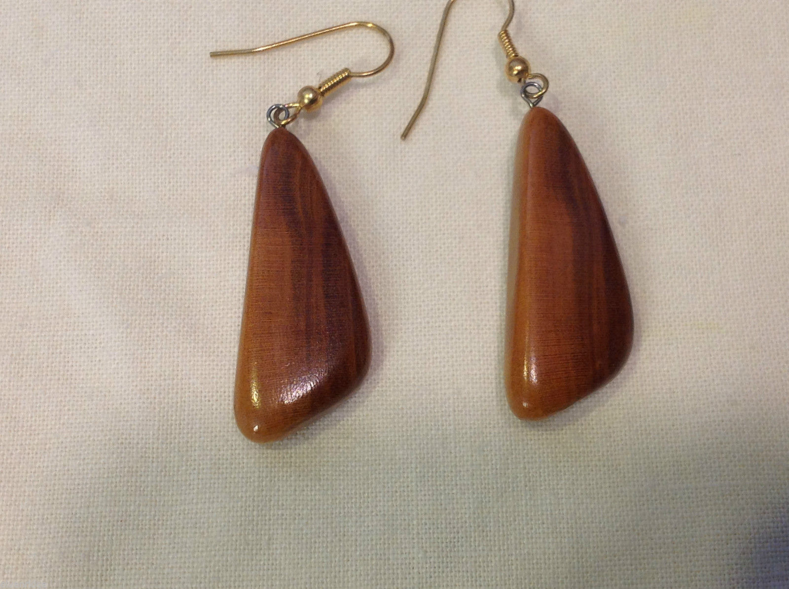 New w tags natural blonde and medium wood grained earrings Ukraine