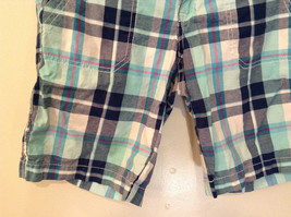Aeropostale Turquoise Blue Plaid Shorts Size 1 to 2 Front and Back Pockets image 4