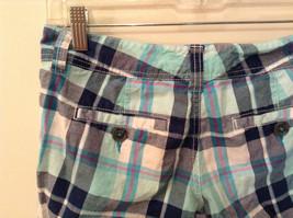 Aeropostale Turquoise Blue Plaid Shorts Size 1 to 2 Front and Back Pockets image 5