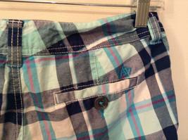 Aeropostale Turquoise Blue Plaid Shorts Size 1 to 2 Front and Back Pockets image 7