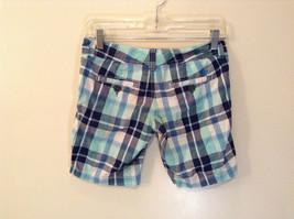 Aeropostale Turquoise Blue Plaid Shorts Size 1 to 2 Front and Back Pockets image 2