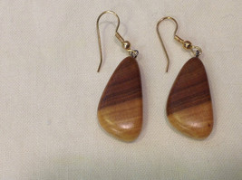 New w tags natural blonde and medium wood grained earrings