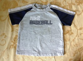 Nike Baseball Short Sleeve T Shirt Gray with Blue and White Size 12M image 1