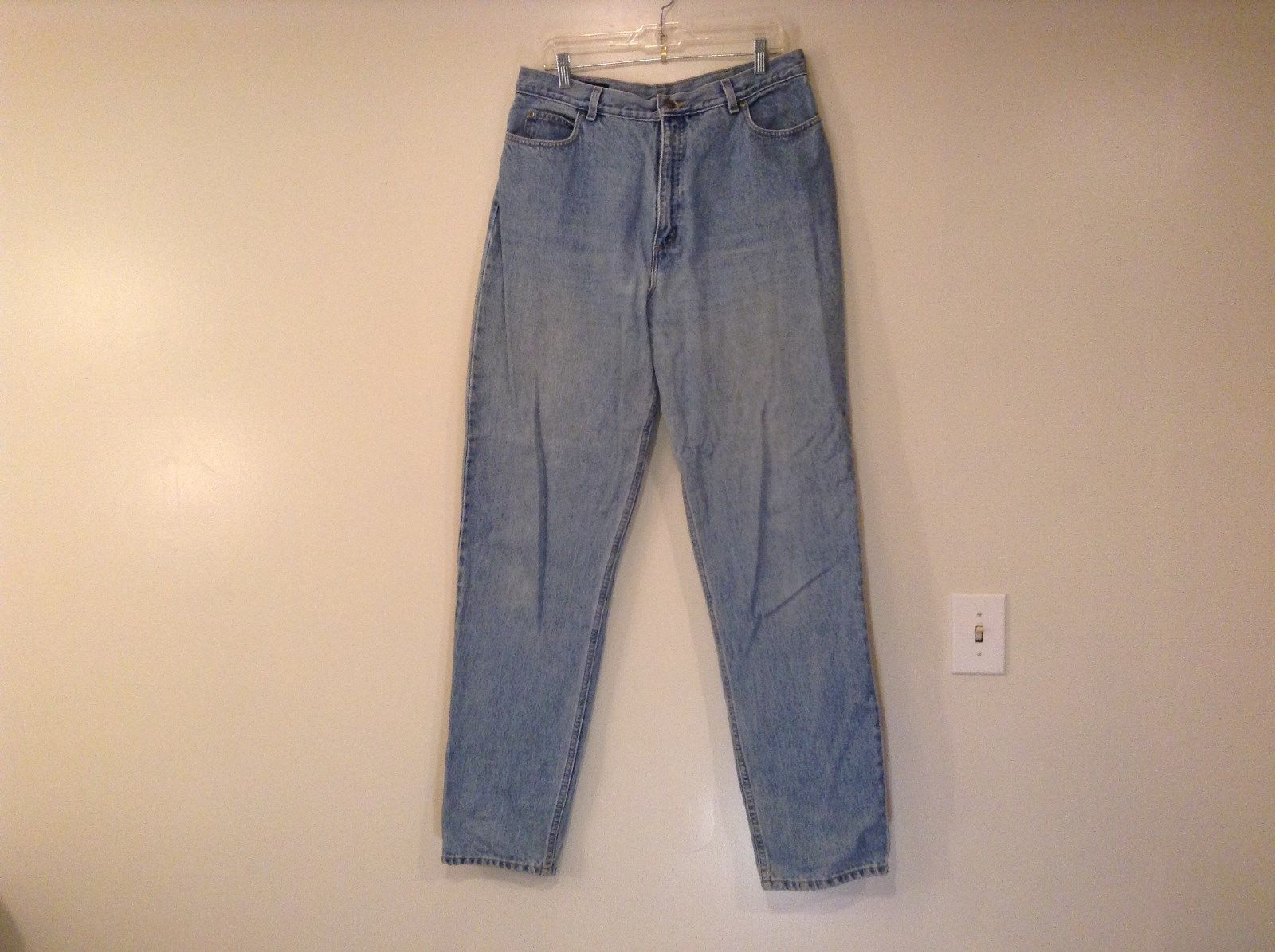 Light Wash Denim Jeans Size 16 Tall Lands End 100 Percent Cotton