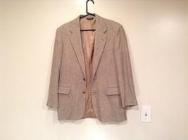 Norm Thompson Size 38R Beige Blue Plaid Suit Jacket Blazer Two Button Closure image 1
