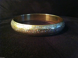 Lightweight Sparkly Brass Bracelet Under Shiny Enamel