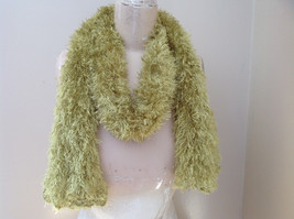 Lime Green Magic Fuzzy Circle Scarf Can Be Used as a Hood and Shoulder Cover