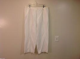 Linda Allard Ellen Tracy Size 16 white pants Soft Viscose Linen