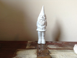 Little Cute White Gnome Figurine Eight and One Quarter Inches High - $29.69