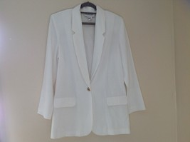 Liz Baker Womens white single button up blazer Size 10