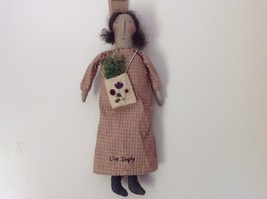 Live Simply Doll with Sack Primitives by Kathy Polyester Fiber image 1