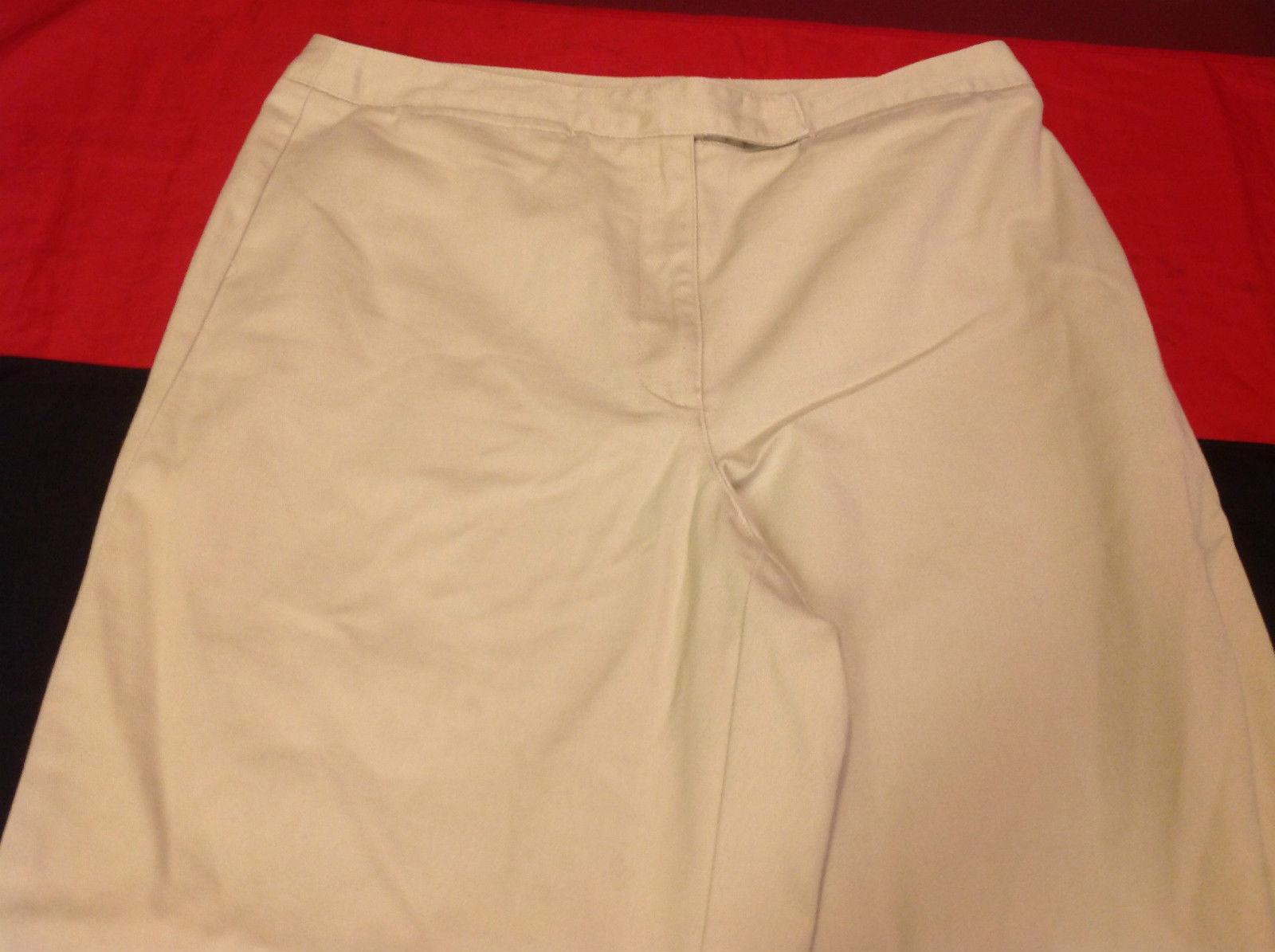 Liz Claiborne Audra Womens Khaki Light Brown Casual Pants Size 12