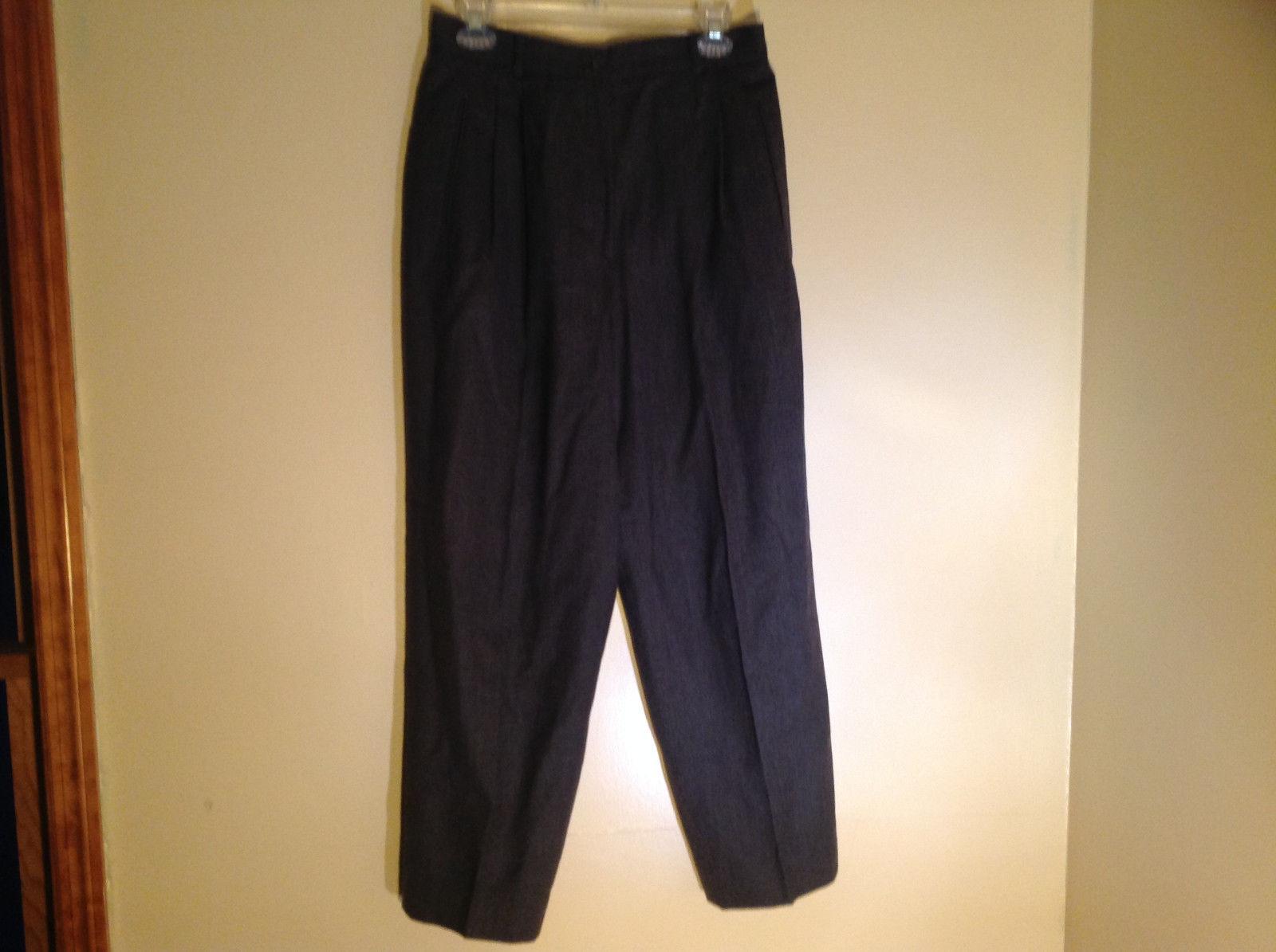 Liz Claiborne Gray Pleated Dress Pants Zipper and Button Closure Size 12
