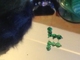 Micro miniature small hand blown glass smiling green caterpillar USA made NIB image 2