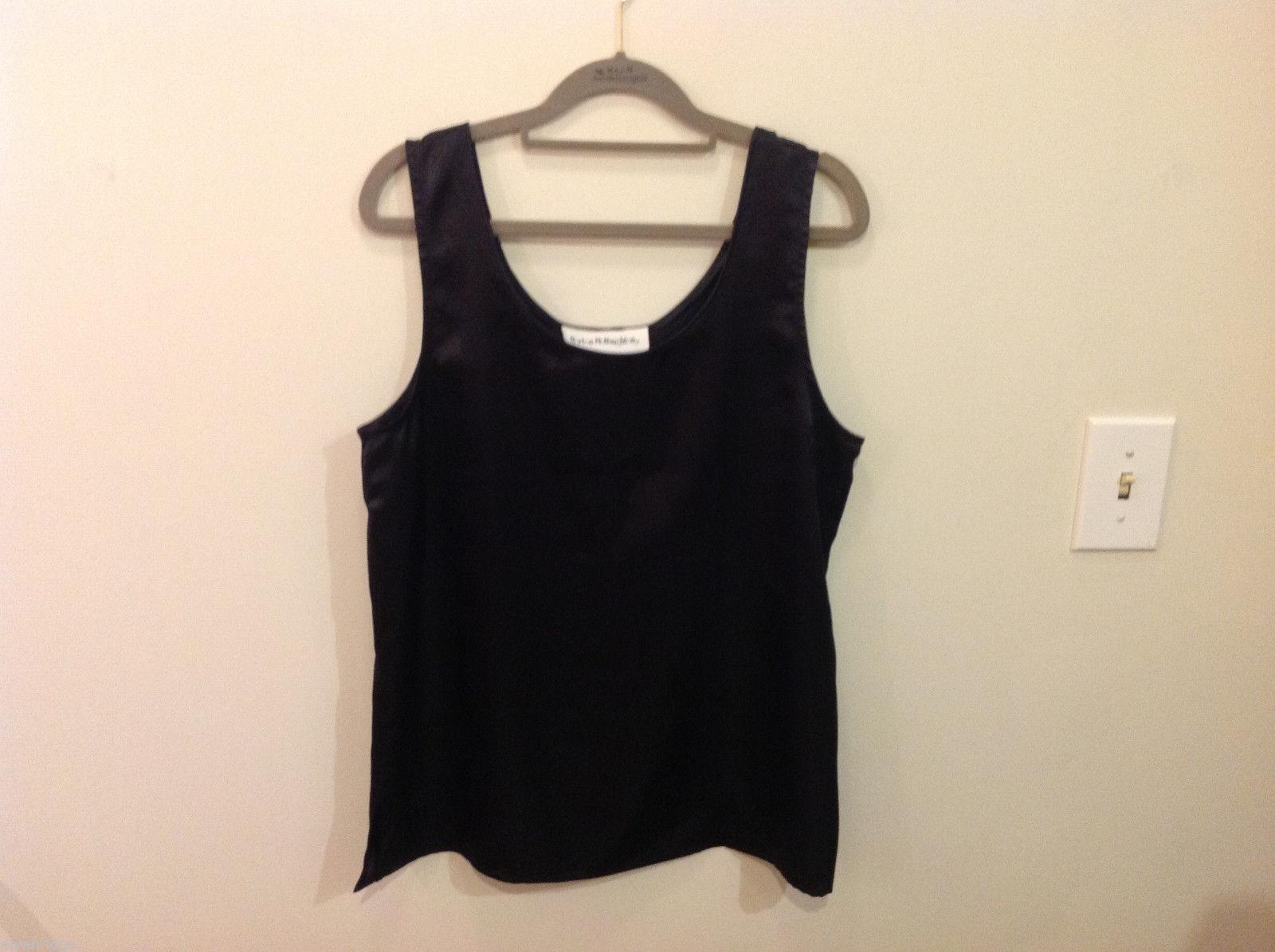Norton McNaughton Black Sleeveless Silk like Blouse Tank Top, NO Size tag