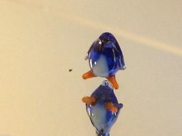 Micro miniature small hand blown glass royal blue emperor penguin USA  NIB image 3