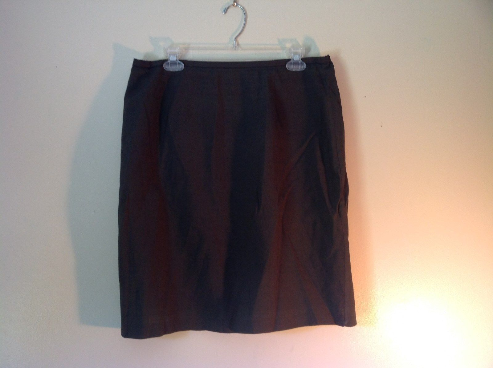Norton McNaughton Green Size 12 Lined Skirt Rayon Polyester Blend