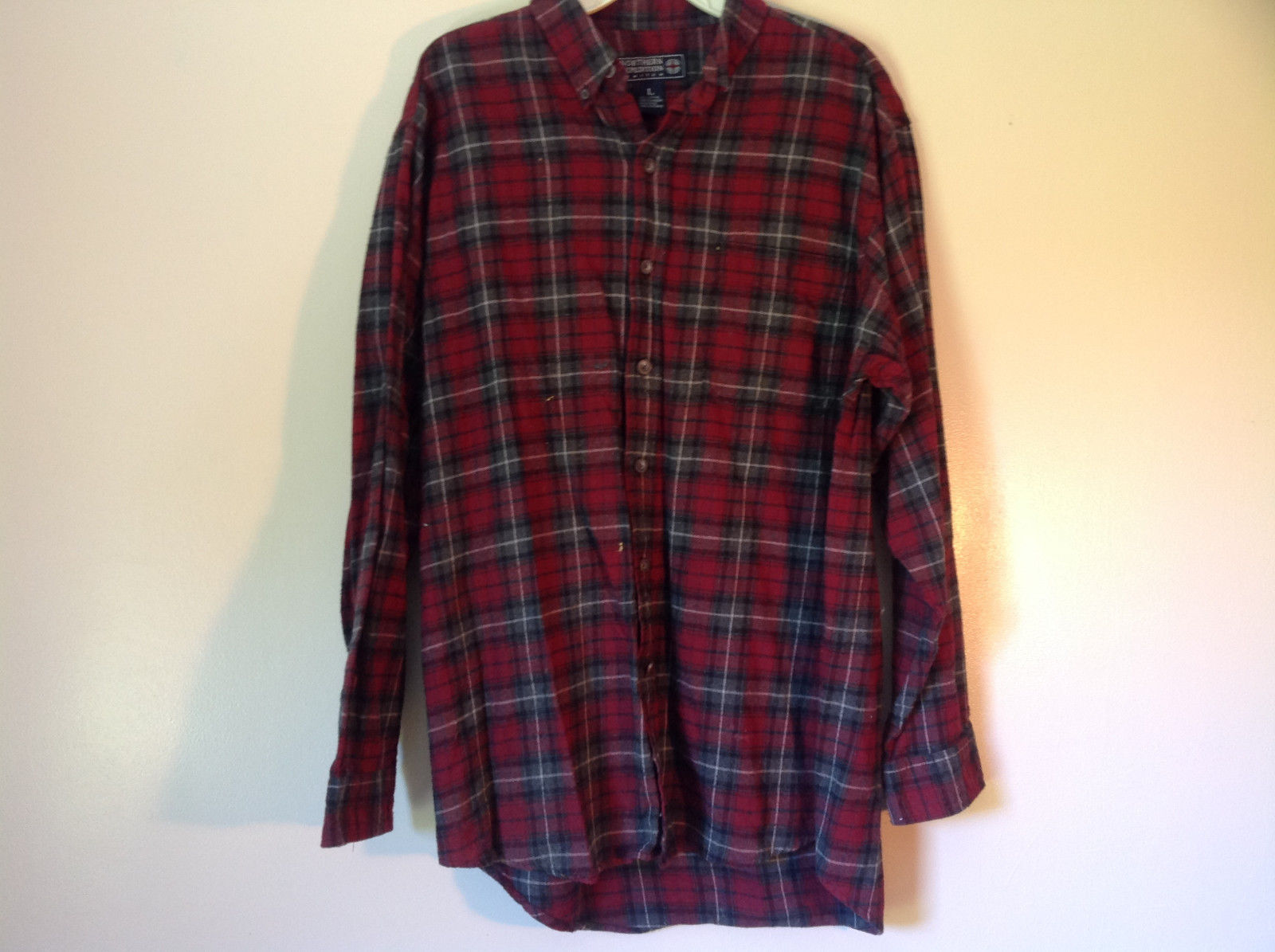 Northern Expedition Limited Size Large Plaid Long Sleeve Button Up Flannel Shirt