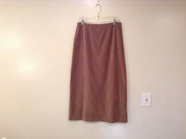 Norton McNaughton Unlined Brown Skirt Size 14 Back Zipper Closer Slit in Back