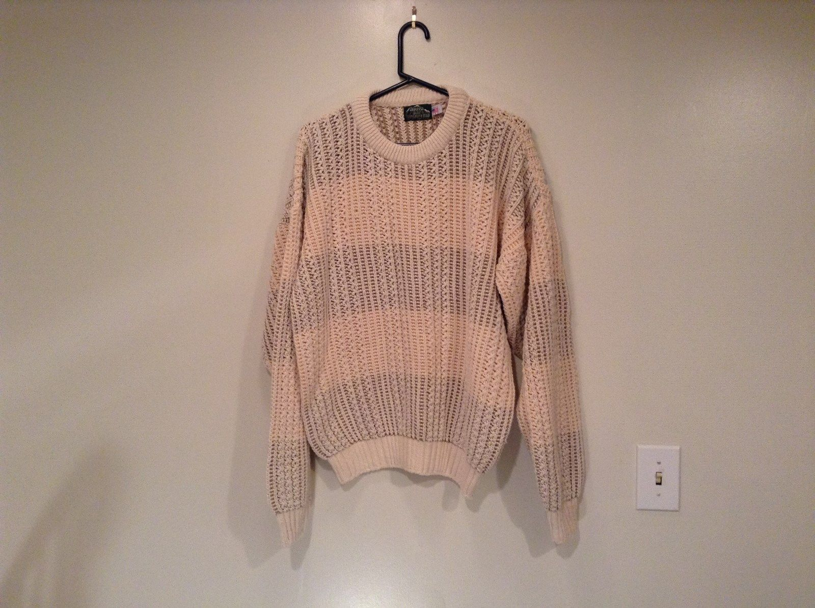 North Bay Outfitters 100 Percent Cotton Long Sleeve Knitted Sweater Size L