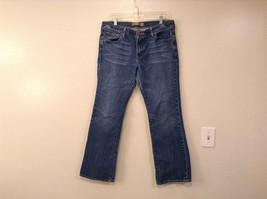 Old Navy Denim Stretch Blue Jeans Low Waist Boot Cut Size 14
